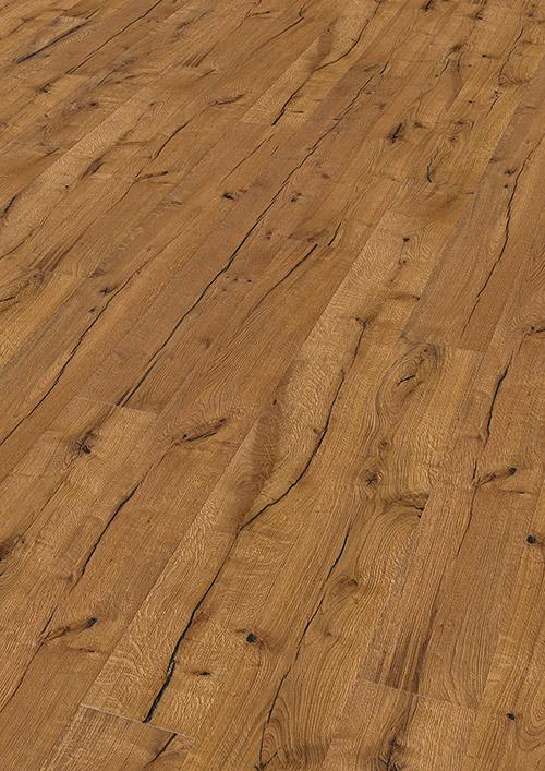 Bywood Plankegulv, 22 cm, Old Wood, Eg, Dybdebørstet, Olieret, med lange fyldte svindrevner