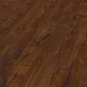 Bywood Plankegulv, 22 cm, Old Wood, Mørkrøget eg, Dybdebørstet, Olieret, med lange fyldte svindrevner