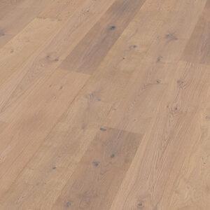 Bywood XL-Plankegulv, Eg, Struktur, Børstet, Hvidolieret