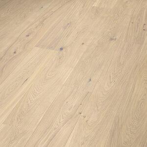 Bywood Bruno XL Plankegulv, Eg, Struktur, Børstet, Hvidolieret