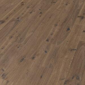 Bywood Plankegulv, Antik, Røget eg, Struktur, 'Ørken' dybdebørstet, Håndhøvlet, Hvidolieret
