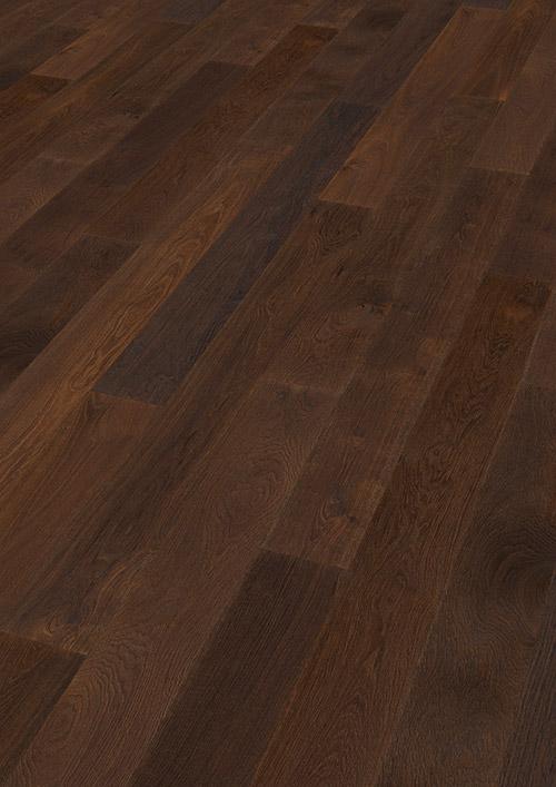 Bywood Plankegulv, Eg, Natur, Børstet, Mørkebrunt olieret