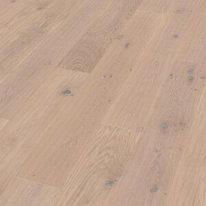 Bywood XL-Plankegulv, Eg, Struktur, Børstet, Håndhøvlet, Hvidolieret