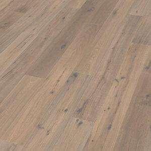 Bywood Plankegulv, Antik, Røget eg, Håndhøvlet, Hvidolieret