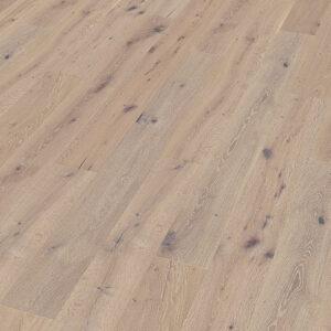 Bywood Plankegulv, Antik, Eg, Børstet, Håndhøvlet, Hvidvasket, Hvidolieret, med udfaldne knaster
