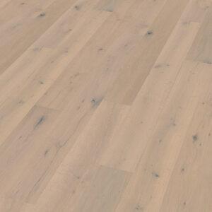 Bywood Plankegulv, Røget eg, Struktur, Børstet, Hvid matlakeret