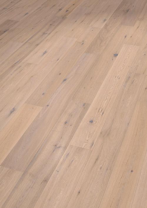 Bywood Plankegulv, Eg, Struktur, Børstet, Hvidolieret