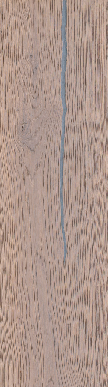 Bywood Plankegulv, Old Fashion' Antik, Eg, Dybdebørstet, Hvidolieret, med lange fyldte svindrevner