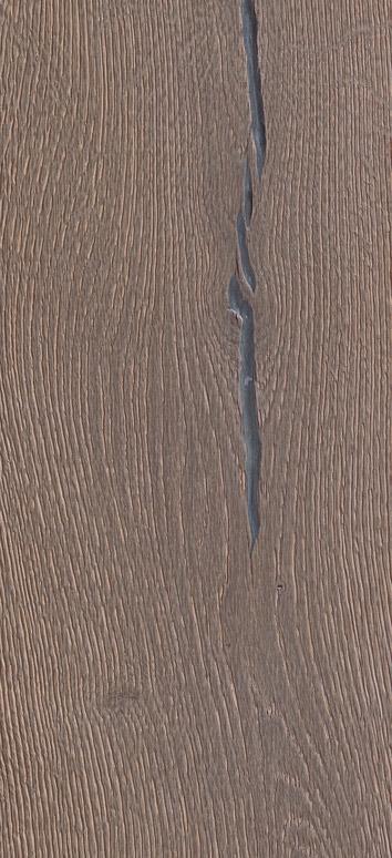 Bywood Plankegulv, Old Fashion' Antik, Eg, Dybdebørstet, Sølvgrå Olieret, med lange fyldte svindrevner